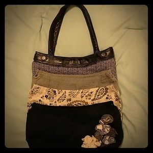 Purse with interchangeable skirts